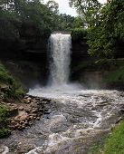 Minnehaha Falls Waterfall