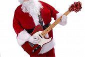 Santa Claus With Guitar