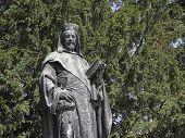 Постер, плакат: Статуя императора Карла IV в Tangermuende