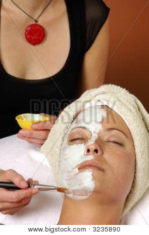 poster of Spa Organic Facial Masque Applied By Esthetician