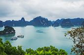 Scenic View On Ha Long Bay In Vietnam poster