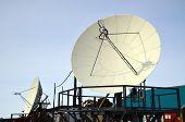 Paraboloid Antenna Against Blue Sky