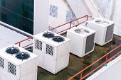 Cooling Machine Large Air Conditioning System Compressor, poster