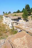 historic buffalo jump cliff formation