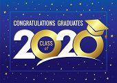 Graduating Class Of 2020 Vector Illustration. Class Of 20 20 Congratulations Design Graphics For Dec poster