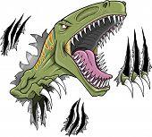 Ilustração do vetor de dinossauro VelociRaptor