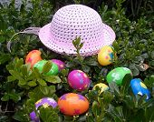 Easter Hat And Eggs