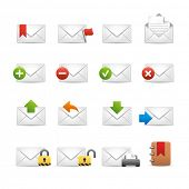 e-mail Icons - Set 2 of 3 // Soft Series