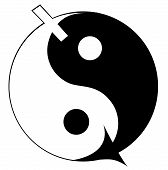 Ying yang symbol of harmony and balance.
