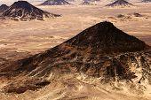 Schwarze Wüste Sahara, westlichen Ägypten