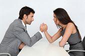 Mensen uit het bedrijfsleven en professionele pariteit