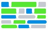 Sms Message Bubbles. Vector Texting Messages, Bubble Images For Send And Receive Text, Phone Messagi poster