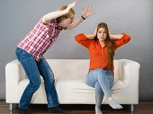 Man And Woman Having Conflict. Guy Ignoring What His Girlfriend Is Saying. Friendship, Couple Breaku poster