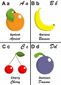 alphabet and fruit