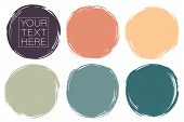 Vector Set Of Hand Painted Circles For Backdrops. Colorful Artistic Hand Drawn Backgrounds. Hand Dra poster