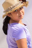 girl and straw hat