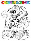 Coloring book with pirate theme 1 - vector illustration.