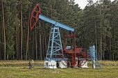 Oil Construction And Mechanism. Work Of Oil Industry. Russia.