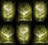 Grunge Bottles And Glasses Illustration