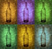 Grunge Bottles Illustration