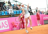 KHARKOV, UKRAINE - APRIL 21: Match between Serena Williams and Elina Svitolina (pictured) during Fed