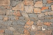 Texture Of A Stone. Old Stone Wall Texture Background. Grey Stone Wall As A Background Or Texture. S poster