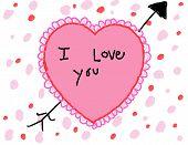 Child's I Love You Valentine Card