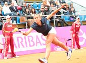 KHARKOV, UKRAINE - APRIL 22: Match between Serena Williams and Lesia Tsurenko (pictured) during Fed