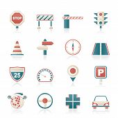 Road and Traffic Icons