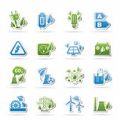 Green energy and environment icons