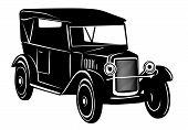 Carro vintage dos anos de 1920