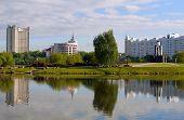 Постер, плакат: Минск Беларусь: Остров слез мемориал создан в 1988 году в ознаменование белорусский солдат кто ди