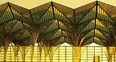 pic of gare  - Landscape of Oriente Station in Lisbon at sunset - JPG