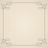 Vintage Background With Simple Swirly Frame