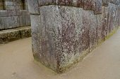 The famous 32 angled stone in Machu Picchu, Peru
