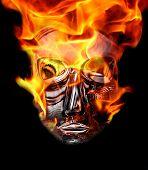 crystal mask with burning corona