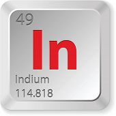 stock photo of indium  - indium element - JPG