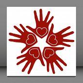 Fun loving hands design.