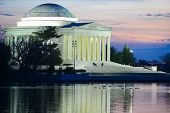 Thomas Jefferson Memorial at sunset - Washington DC United States