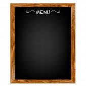 pic of food chain  - Restaurant Menu Board With Gradient Mesh - JPG