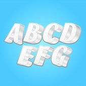Постер, плакат: 3D Шрифты алфавитов