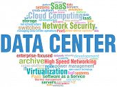 Data Center Computing IT technology keyword cloud tags