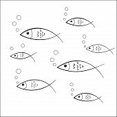 Fish Doodle Decal
