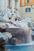 Detail of the Trevi fountain