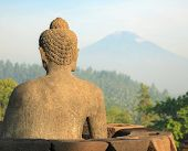 picture of arjuna  - Buddha Statue at Borobudur Temple Ruin Indonesia - JPG