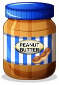 Illustration of a jar of peanut butter on a white background