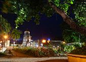 Night view of Dumaguete city. Negros island, Philippines