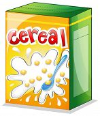 Illustration of a cereal on a white background