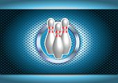 Chrome Bowling Poster Background