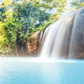 Beautiful Prenn waterfall in Vietnam.